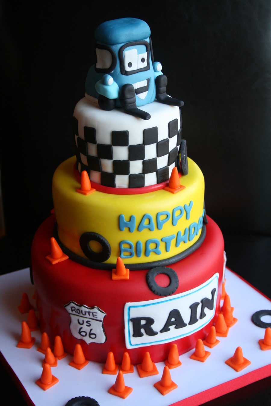 Cars Guido Birthday Cake  on Cake Central