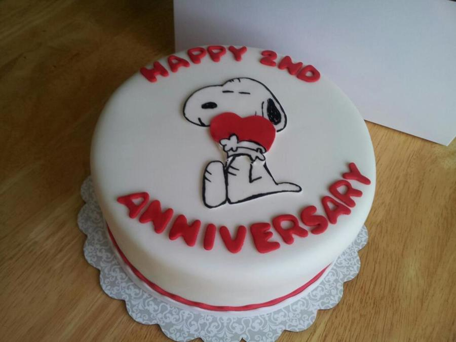 Snoopy Anniversary Cake on Cake Central