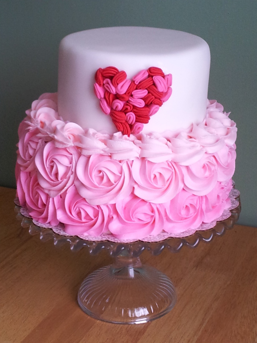 Heart Ruffle Cake Cakecentral Com