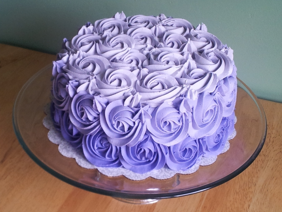 Purple Ombre on Cake Central