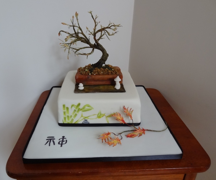 How To Get Cake Decorating Experience : Zen Autumn Bonsai Tree - CakeCentral.com