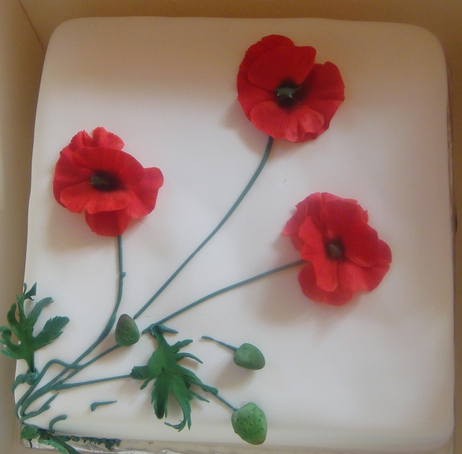 Simple Poppies Cakecentral