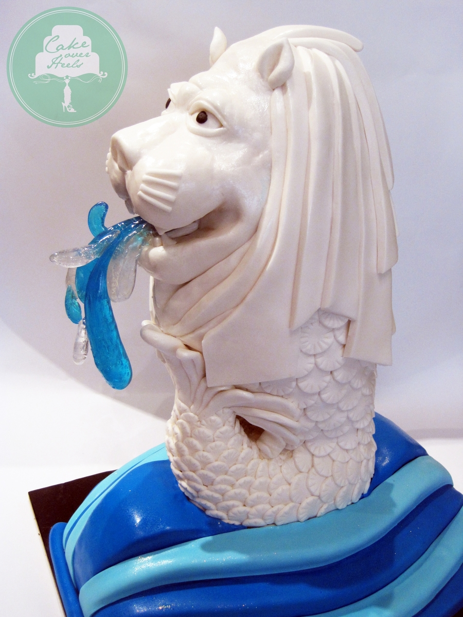 The Merlion on Cake Central