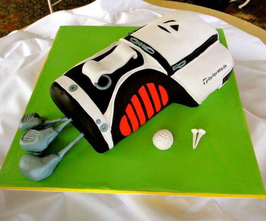 Golf Bag Groom s Cake - CakeCentral.com