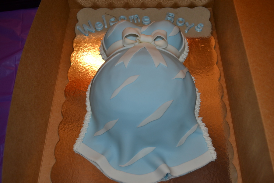 Baby Belly Baby Shower Cake on Cake Central