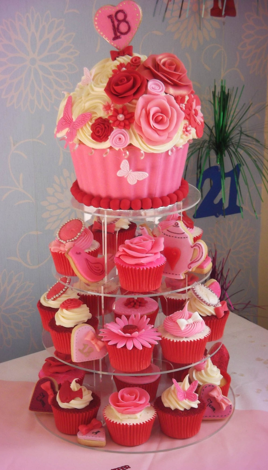 Giant Cupcake Tower on Cake Central