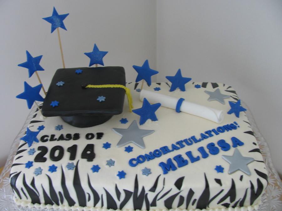 Half Sheet Graduation Cake CakeCentralcom