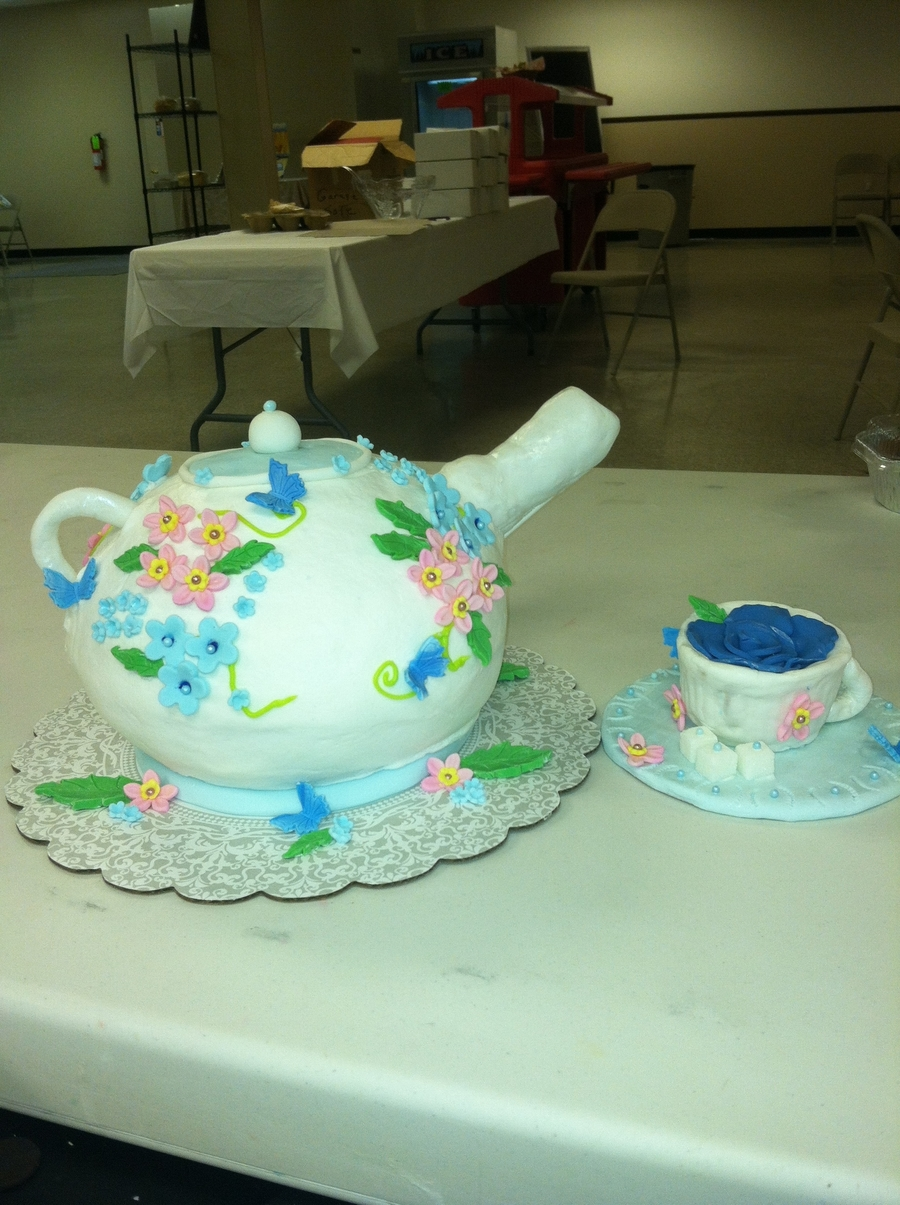 Teapot And Teacup Cake on Cake Central