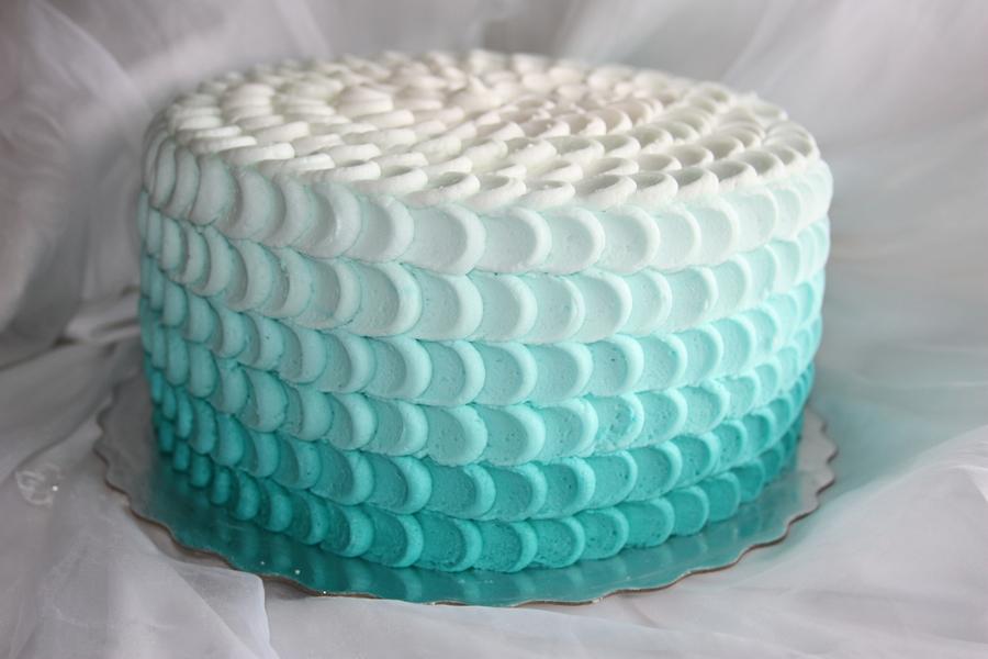 White Petal Wedding Cake