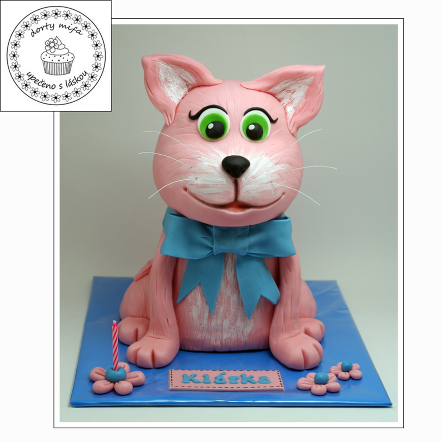 Pink Cat  on Cake Central