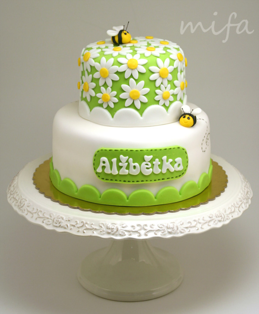 Daisies And Bees on Cake Central