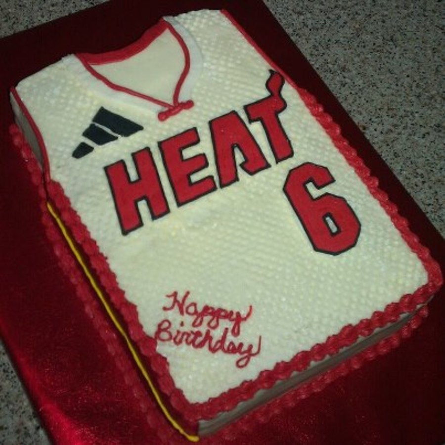 Jersey Cake. Lebron James.  on Cake Central