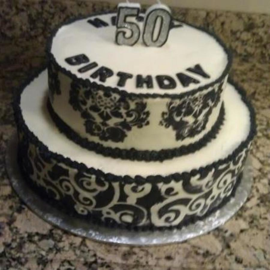50Th Birthday. Stencil.  on Cake Central
