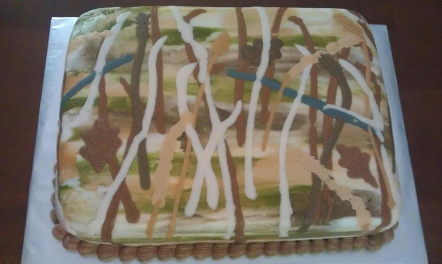 Realtree Camouflage Cake  on Cake Central