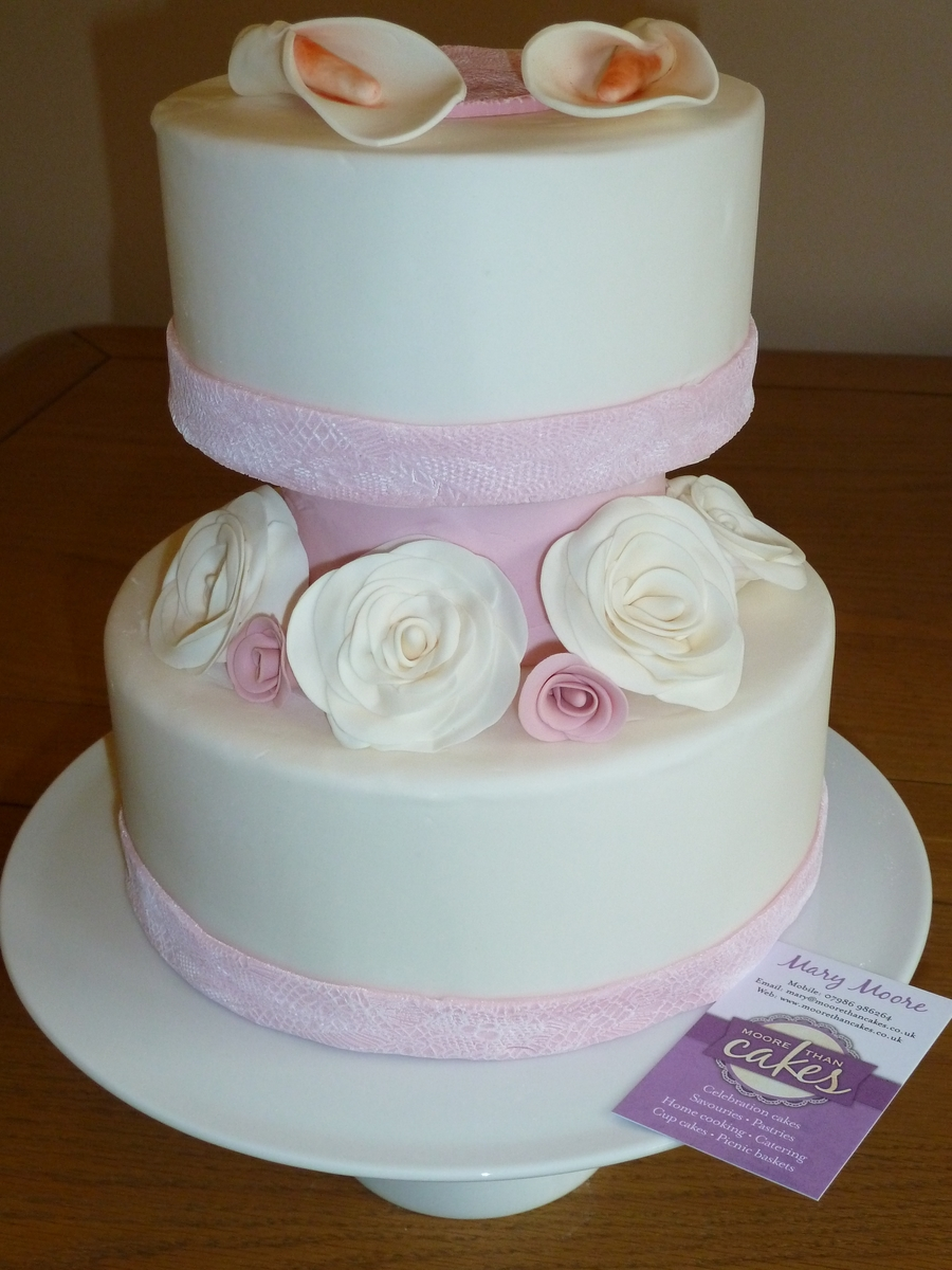 2 Tier Wedding Cake With Spacer on Cake Central