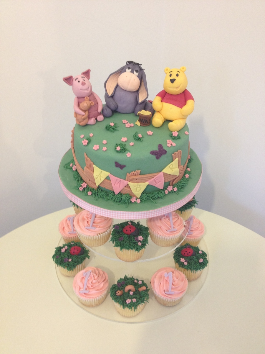 Winnie The Poo Cupcake Tower on Cake Central