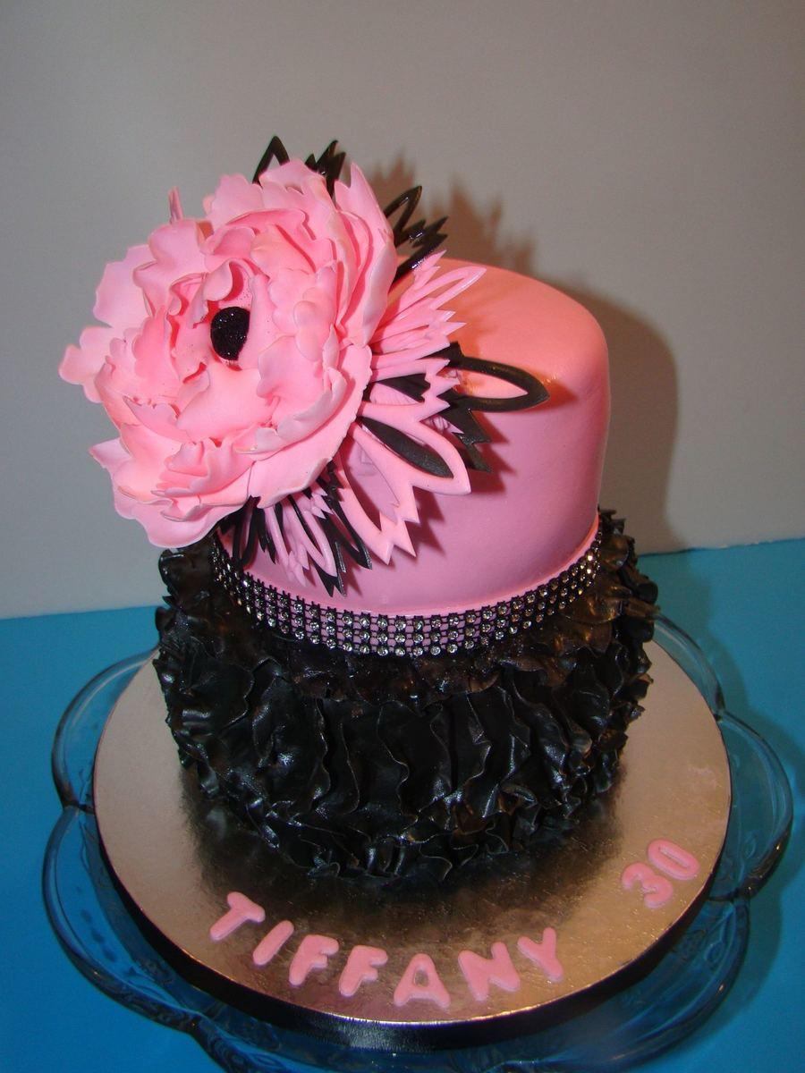 Pink Black Bling Cakecentral Com