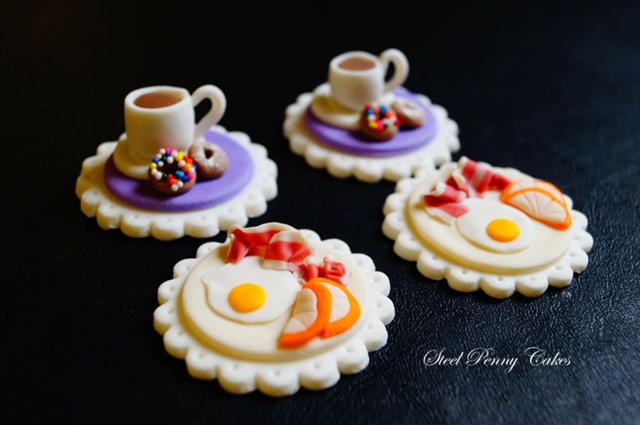 Breakfast Themed Cupcake Toppers on Cake Central
