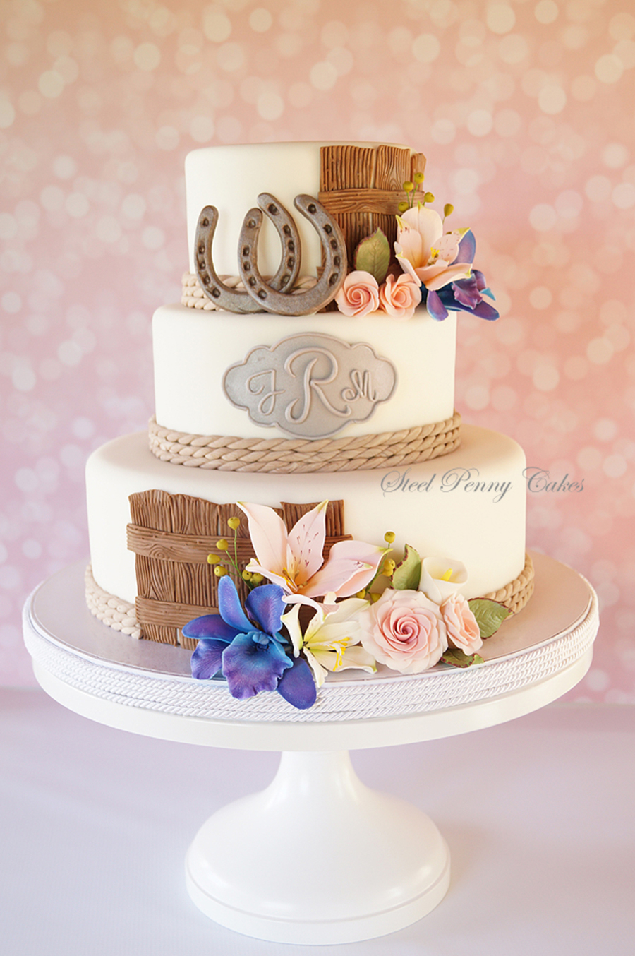 Heres My Take On A Western Themed Wedding Cake I Didnt