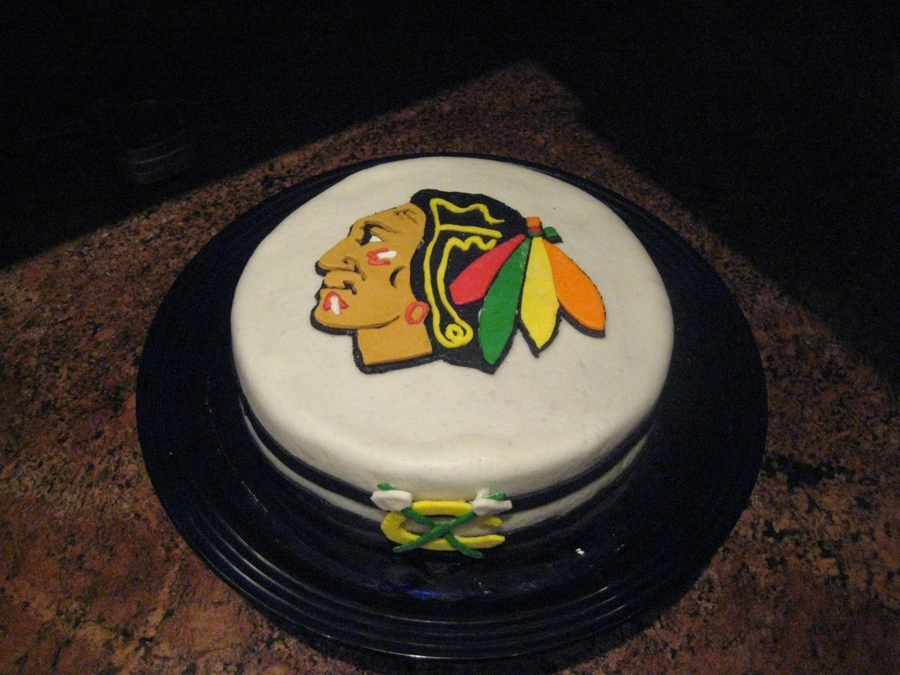 Chicago Blackhawks Birthday Cake  on Cake Central