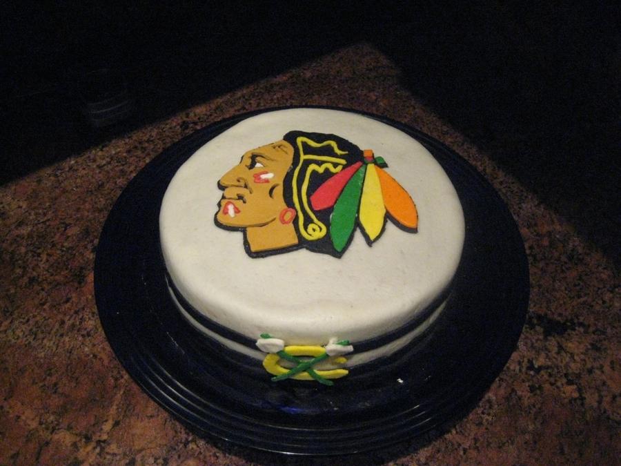 Blackhawks Birthday Cake