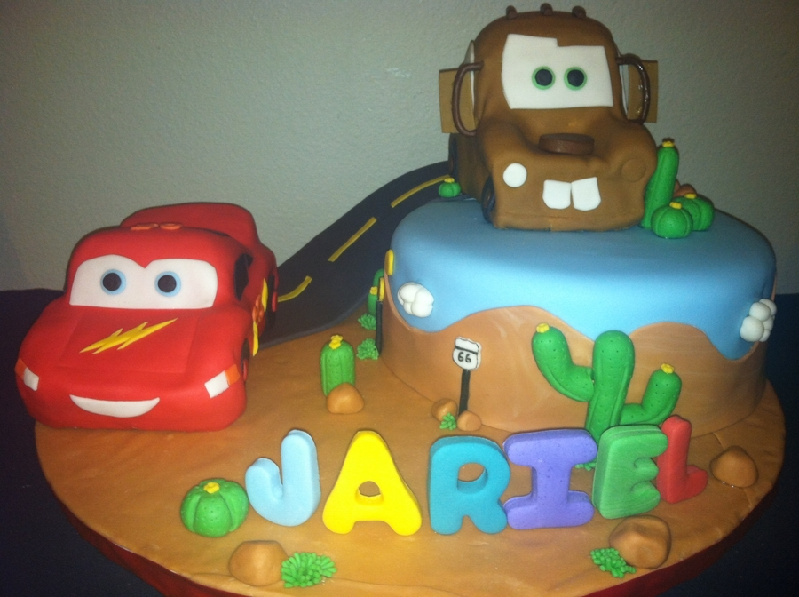 Cars Theme Cake on Cake Central