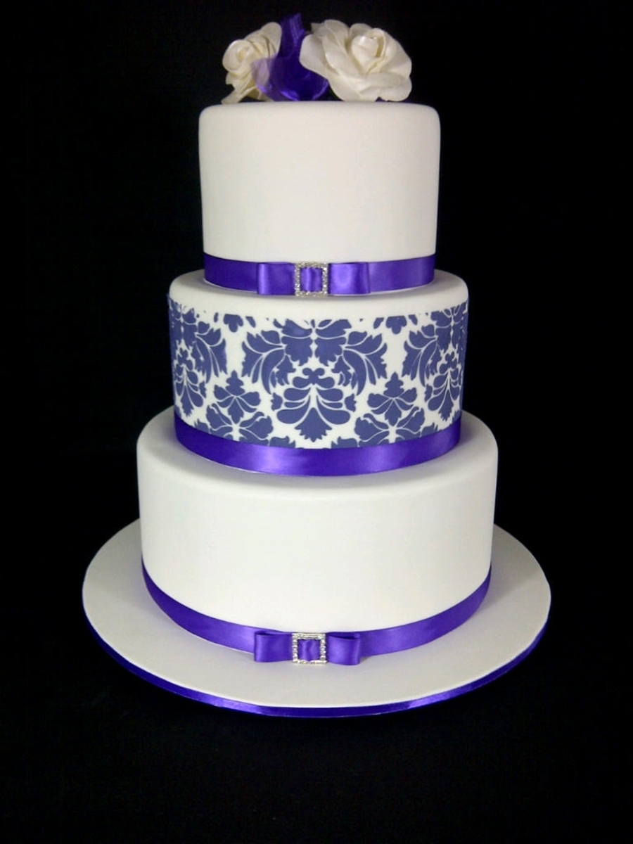 Three Teir Wedding Cake.  on Cake Central