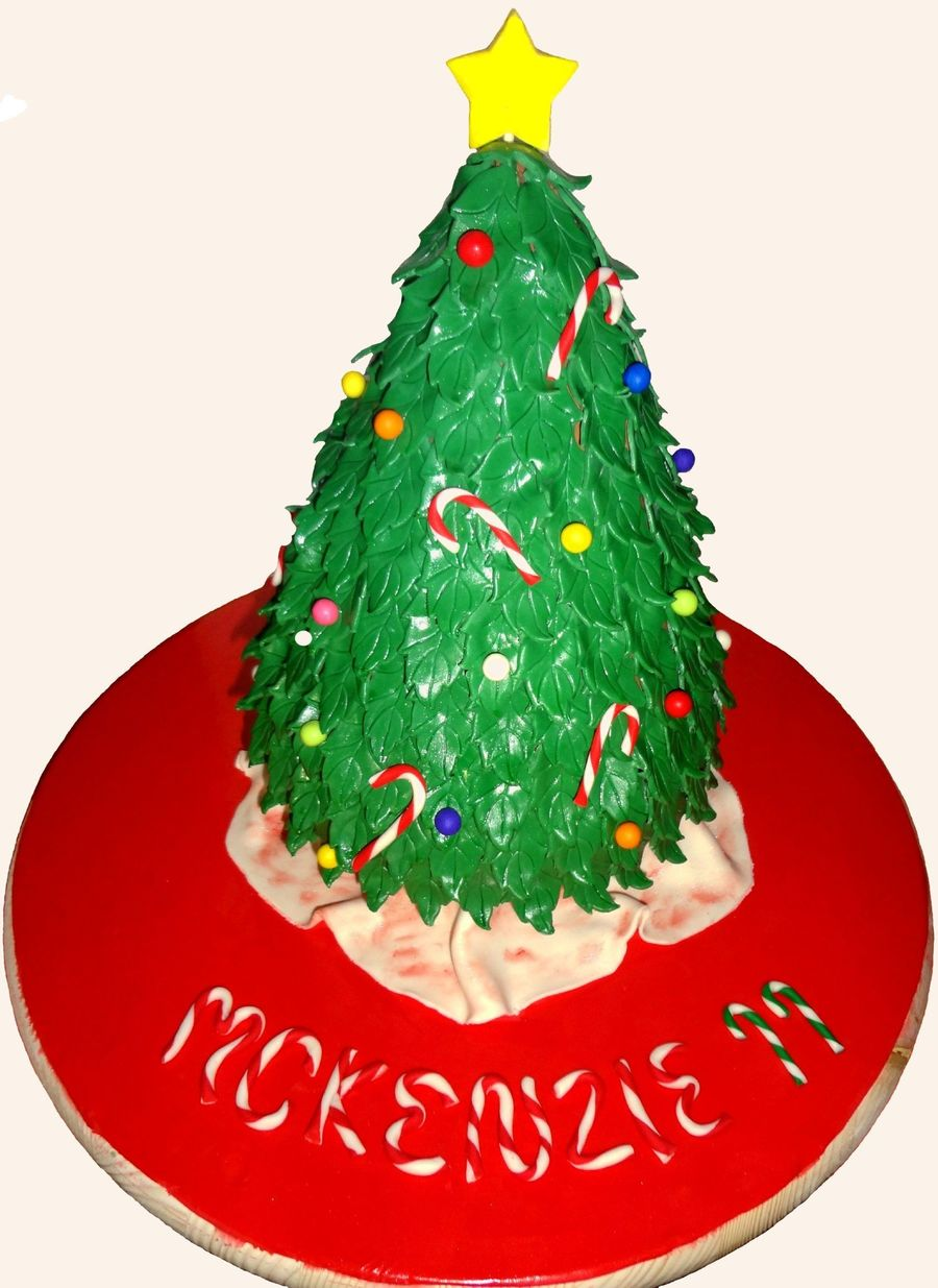 Christmas Tree Birthday Cake on Cake Central