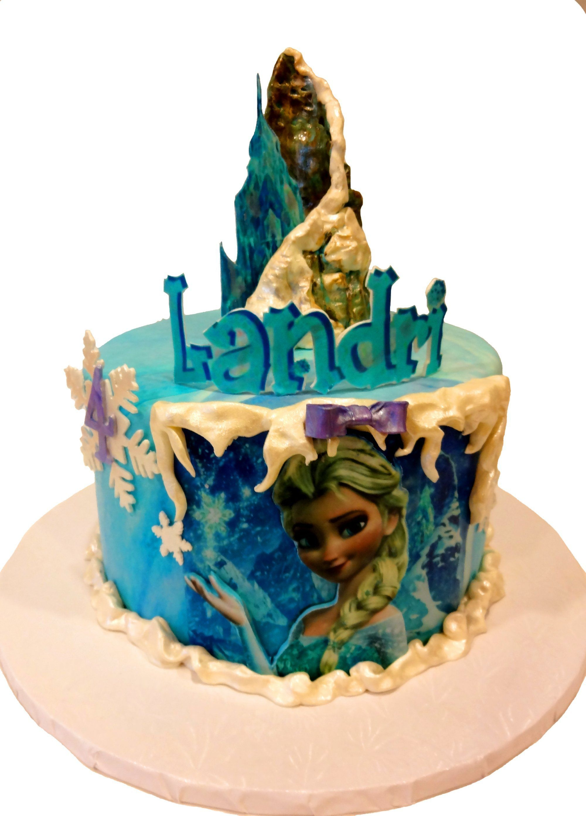 Peachy Disneys Frozen Elsa 4Th Birthday Cake Cakecentral Com Funny Birthday Cards Online Unhofree Goldxyz