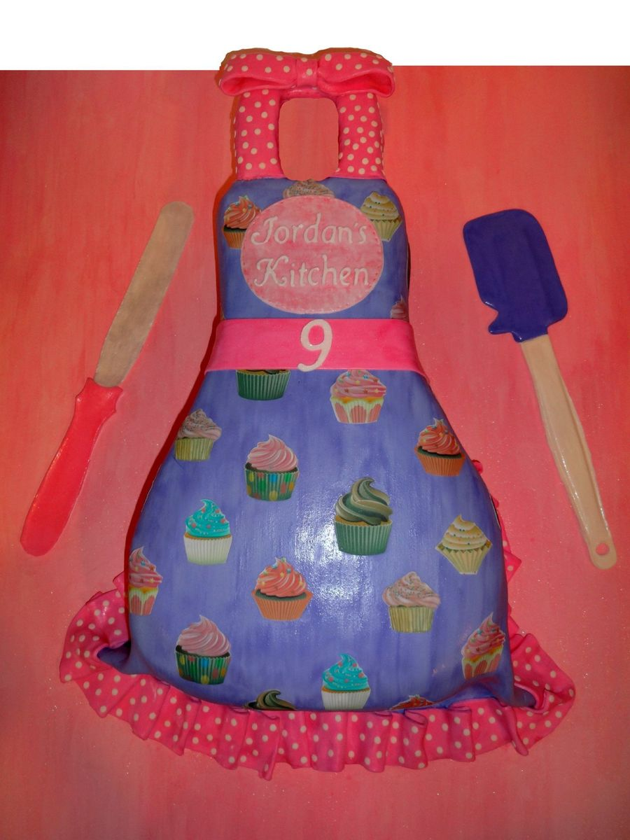 Apron Birthday Cake Spatulas Edible on Cake Central