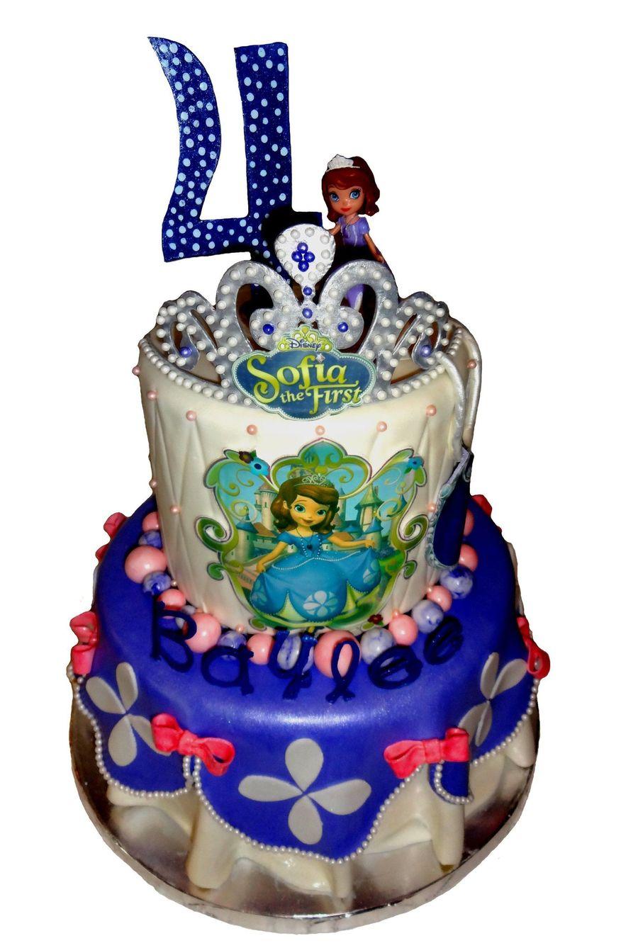 Awe Inspiring Princess Sofia The First 4Th Birthday Cake Cakecentral Com Funny Birthday Cards Online Inifodamsfinfo