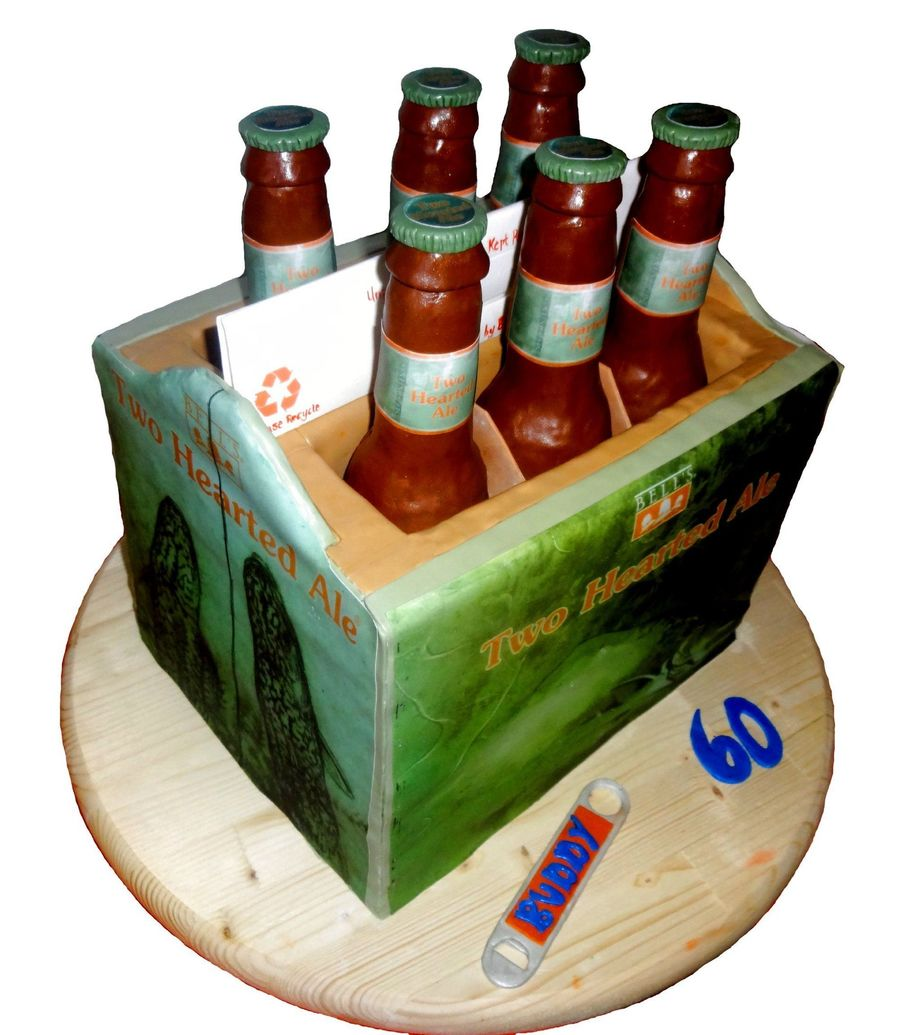 Surprise 60Th Birthday 6 Pack Of Beer Cake on Cake Central