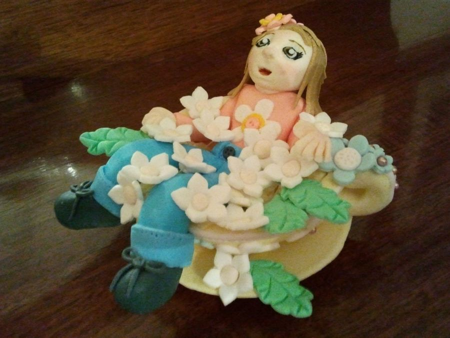 Girl In Teacup on Cake Central