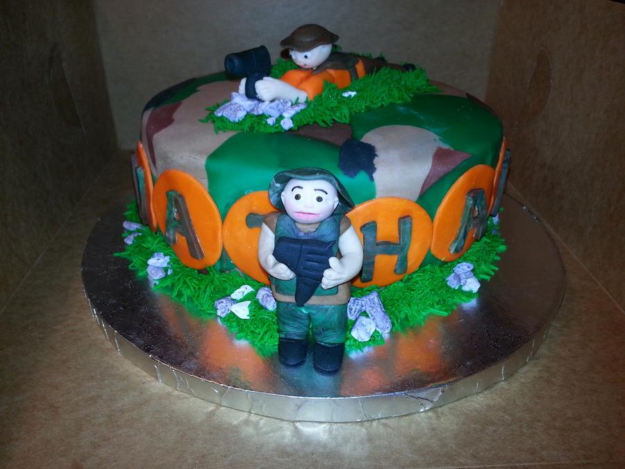 Decorating Ideas > Camo Laser Tag Cake  CakeCentralc ~ 023636_Cake Decorating Ideas Laser Tag