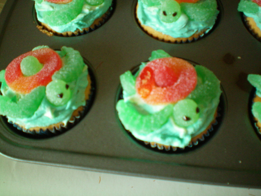 Mountain Dew Squirt Turtles Cupcakes on Cake Central