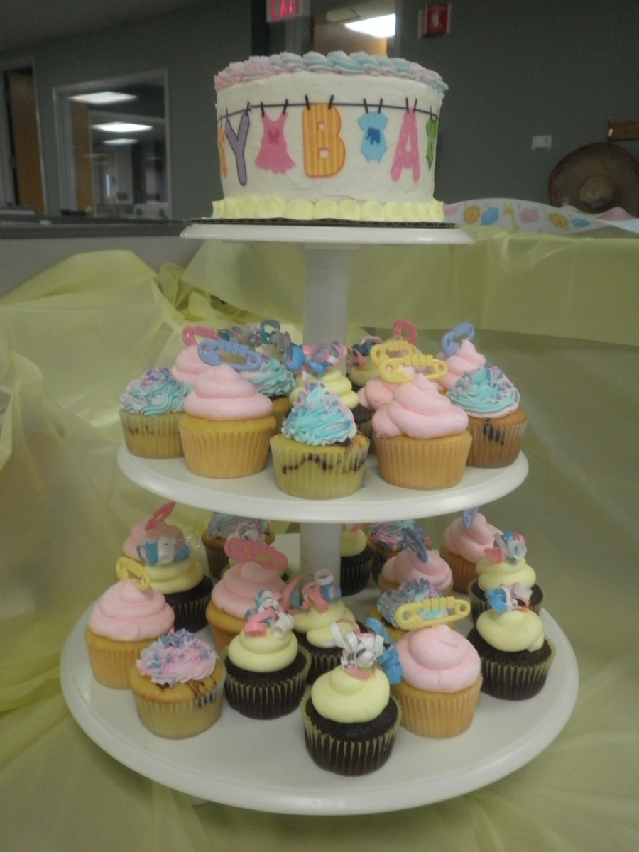 Baby Shower Cupcake Tower  on Cake Central