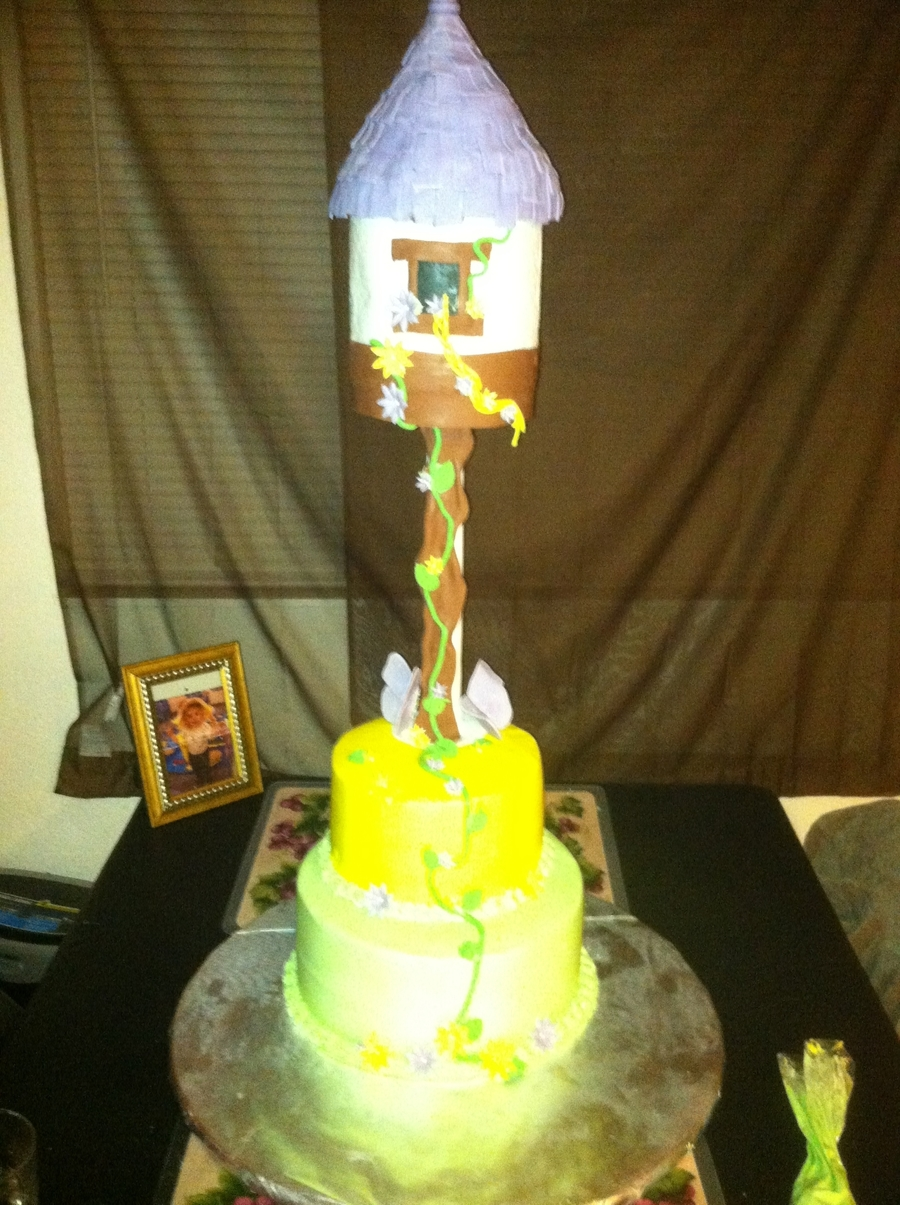 Tangled Theme Cake  on Cake Central