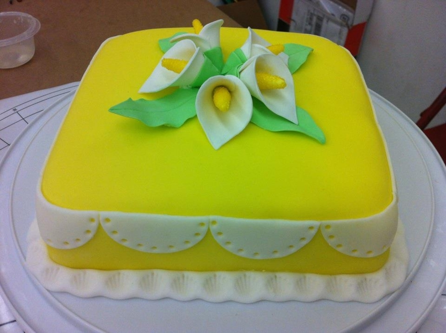 Wilton 3 Calla Lilies on Cake Central