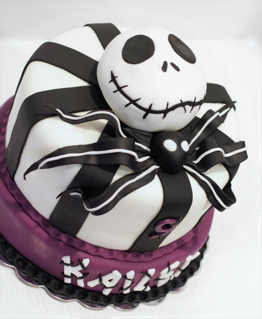 Nightmare Before Christmas Girly Cake on Cake Central
