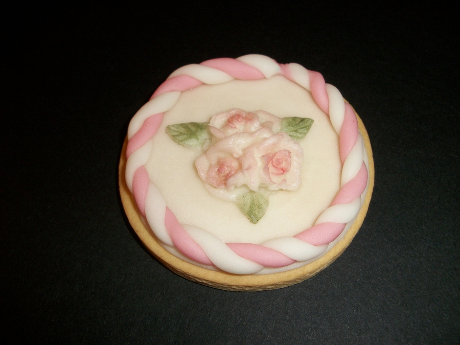 Romantic Frame Cookie!  on Cake Central