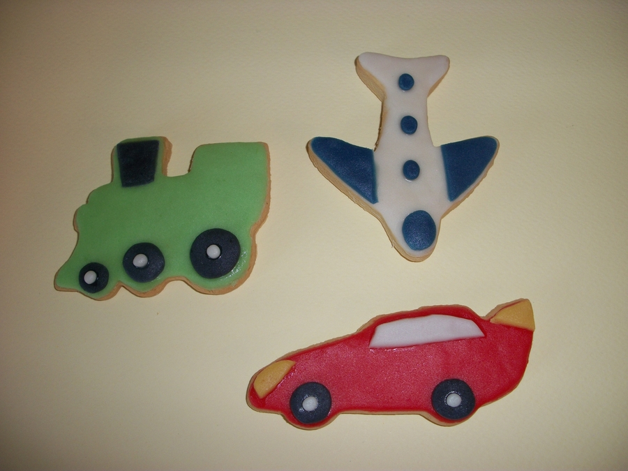 Transportation Cookies!! on Cake Central