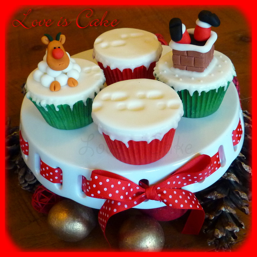 Santa Got Stuck In The Chimney Cupcakes!  on Cake Central