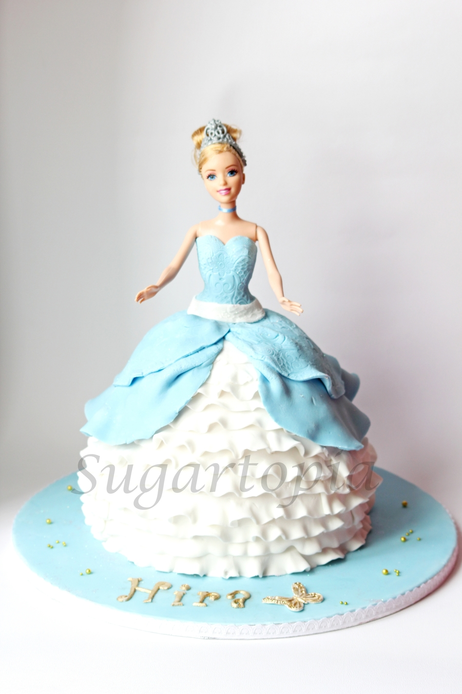How To Make A Cinderella Doll Birthday Cake