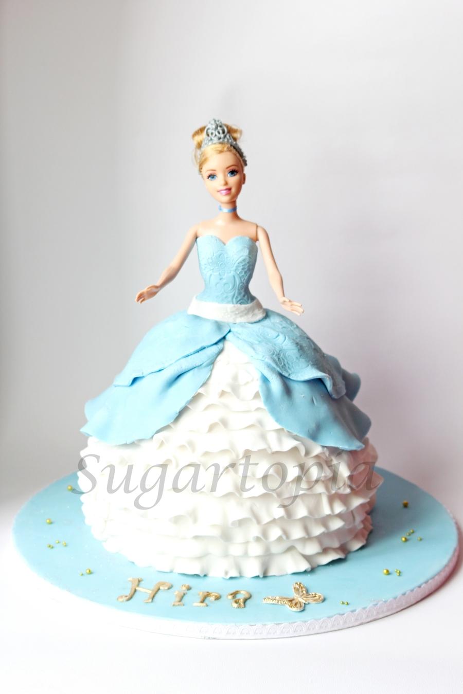 Decoration Of Doll Cake : Cinderella Doll Cake - CakeCentral.com