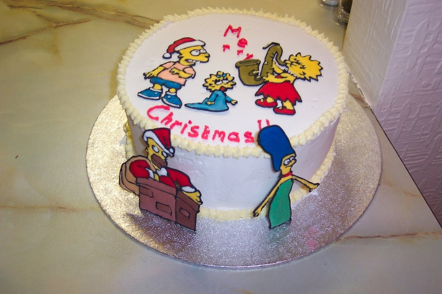 Simpsons Christmas on Cake Central