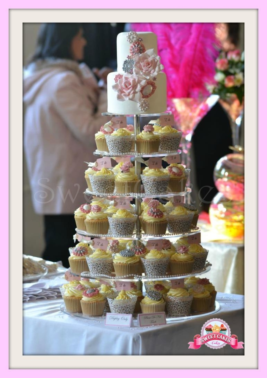 Pink Jewel Cupcake Tower on Cake Central