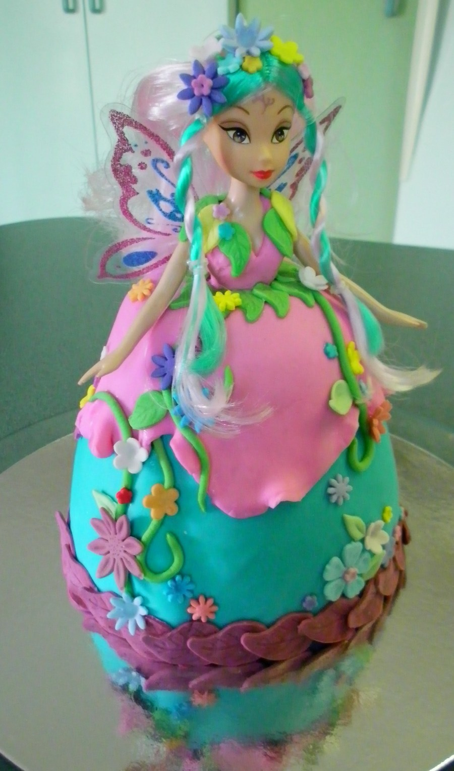 Forest Fairy Cake Choc Cake With Buttercream Filling And Fondant Icing on Cake Central