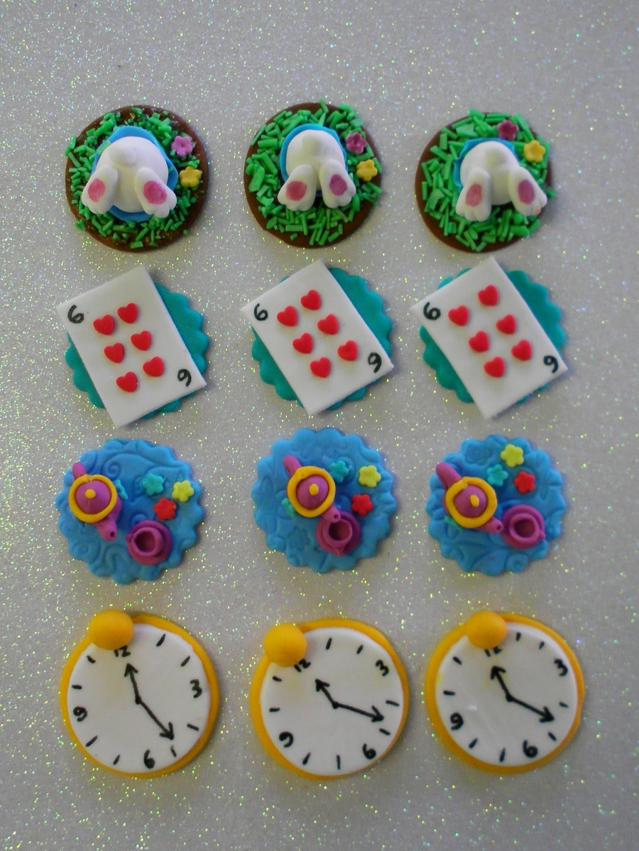 Alice In Wonderland Cupcake Toppers on Cake Central