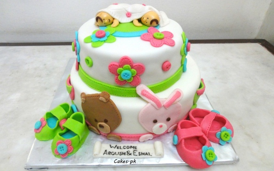 Twice The Joy Twice The Fun With These New Born Twin Girls on Cake Central