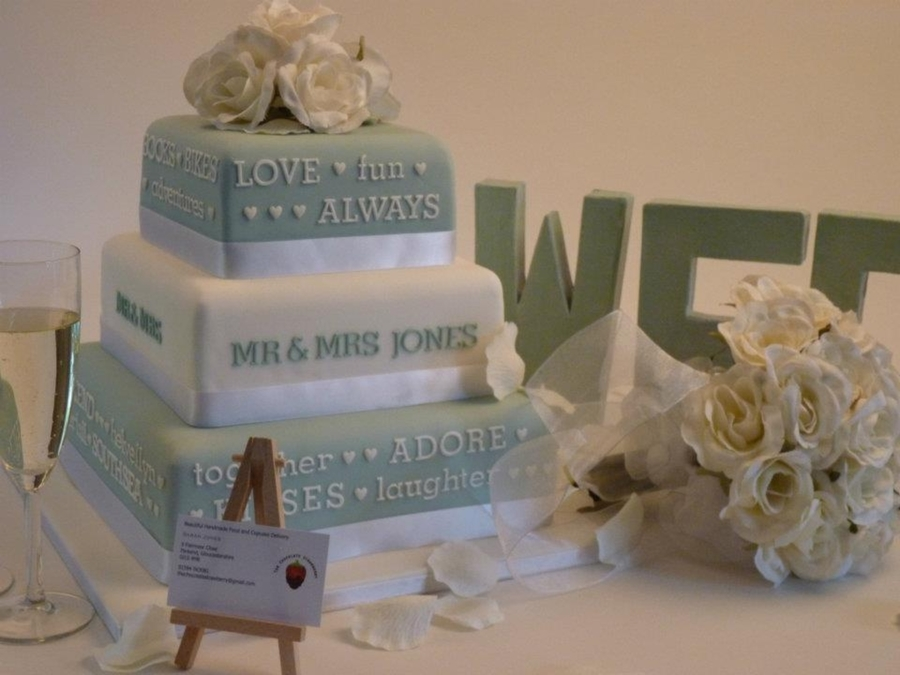 Our Story Wedding Cake  on Cake Central